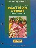 People, Places and Change: The East: Vocabulary Activities
