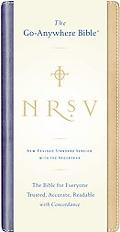 Holy Bible New Revised Standard Version, Blue/Tan, Go-Anywhere, Nu Tone, With Apocryphal/Deu...