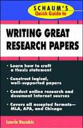 Schaum's Quick Guide to Writing Great Research Paper