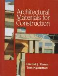 Architectural Materials for Construction
