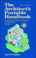 Architect's Portable Handbook First-Step Rules of Thumb for Building Design