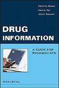 Drug Information A Guide for Pharmacists