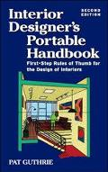 Interior Designer's Portable Handbook First-Step Rules of Thumb for the Design of Interiors