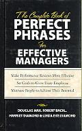 Complete Book of Perfect Phrases for Effective Managers