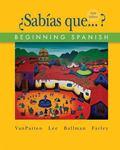 Workbook Lab Manual to Accompany Sabias Que?
