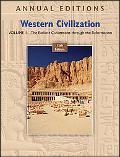 Annual Editions: Western Civilization, Volume 1, 15/e