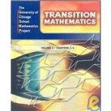 UCSMP Transition Mathematics: Student Edition, Vol. 1, Chapters 1-6