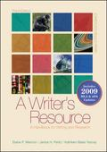 A Writer's Resource (spiral-bound) 2009 APA & MLA Update, Student Edition
