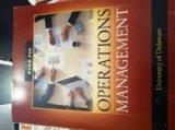 Operations Management, 11th Custom Edition for University of Delaware BUAD 306