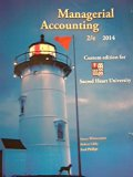 Managerial Accounting (Sacred Heart University)