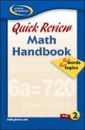 Quick Review Math Handbook hot words hot topics