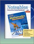 Mathematics Applications And Concepts, Course 2, Noteables Interactive Study Notebook With F...