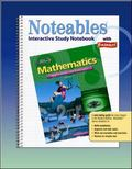 Mathematics Applications And Concepts, Course 3, Noteables Interactive Study Notebook With F...