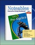 Glencoe Pre-algebra, Noteables Interactive Study Notebook With Foldables