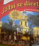 Asi Se Dice! (Spanish Edition)