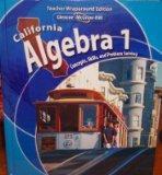 California Algebra 1 Concepts, Skills, and Problem Solving Teachers Wraparound Edition