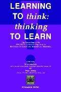 Learning to Think Thinking to Learn  The Proceedings of the 1989 Oecd Conference