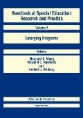 Handbook of Special Education Research and Practice  Emerging Programs