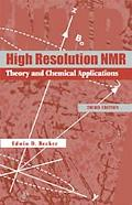 High Resolution Nmr Theory and Chemical Applications