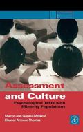Assessment and Culture Psychological Tests With Minority Populations