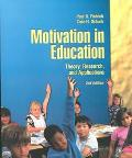 Motivation in Education Theory, Research and Application