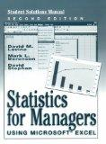 Statistics for Managers Using Microsoft Excel (Student Solutions Manual)