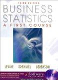 Business Statistics: A First Course with CDROM