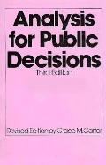 Analysis for Public Decisions