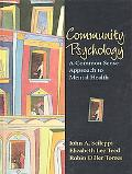 Community Psychology A Common Sense Approach to Mental Health
