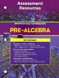 PRENTICE HALL MATH PRE-ALGEBRA ASSESSMENT RESOURCES BLACKLINE MASTERS   2004C