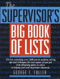 Supervisor's Big Book of Lists