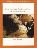 International Business Law; Text, Cases, and Readings (International Edition)