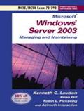 Microsoft Windows Server 2003 Planning, Implementing and Maintaining Exam 70-290