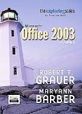 Exploring Microsoft Office 2003 Adhesive Bound