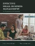 Effective Small Business Management: An Entrepreneurial Approach
