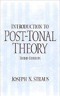 Introduction to Post-Tonal Theory (3rd Edition)