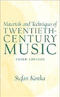 Material and Techniques of 20th Century Music