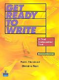 Get Ready to Write A Beginning Writing Text