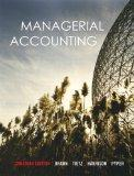 Managerial Accounting, Canadian Edition with MyAccountingLab