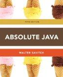 Absolute Java (5th Edition)