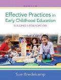 Effective Practices in Early Childhood Education : Building a Foundation