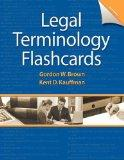 Printed Flashcards for Legal Terminology