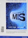 Essentials of MIS, Student Value Edition Plus 2014 MyMISLab with Pearson eText -- Access Car...