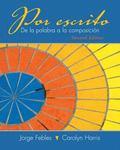 Por escrito Plus Spanish Grammar Checker Access Card (one semester) (2nd Edition)