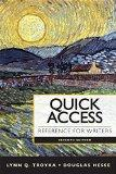 Quick Access Reference for Writers Plus Pearson eText with MyWritingLab -- Access Card packa...