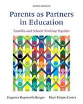 Parents As Partners in Education : Families and Schools Working Together with Enhanced Pears...