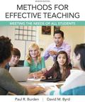 Methods for Effective Teaching : Meeting the Needs of All Students, Enhanced Pearson EText w...