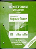 Instructor's Manual with Solutions to Accompany Fundamentals of Corporate Finance