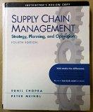 Supply Chain Management -Stragety, Planning, and Operation--instructor's Review