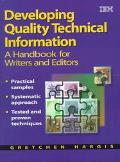 DEVELOPING QUALITY TECHNICAL INFORMATION (P)